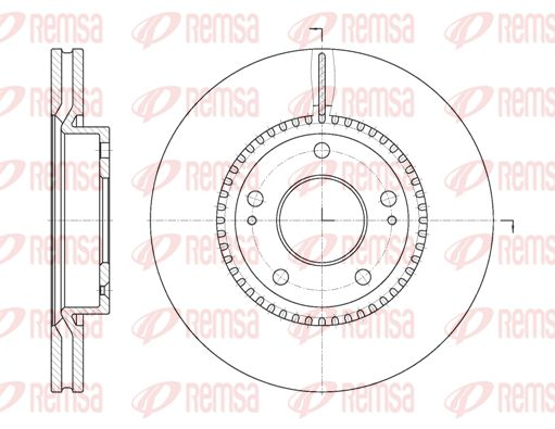 REMSA  6663.10 Brake Disc Brake Disc Thickness: 26mm, Num. of holes: 5, Ø: 280mm, Ø: 280mm