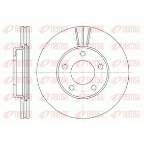 Brake Disc Brake Disc Thickness: 25mm, Num. of holes: 5, Ø: 277,9mm, Ø: 277,9mm with OEM Number BP4Y-3325X-B
