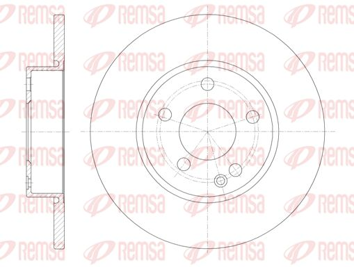 REMSA  6674.00 Bremsscheibe Bremsscheibendicke: 12,2mm, Lochanzahl: 5, Ø: 276mm