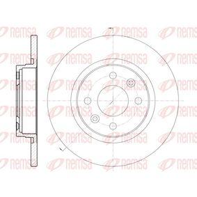 Bremsscheibe Bremsscheibendicke: 12mm, Lochanzahl: 4, Ø: 258,8mm mit OEM-Nummer 8200123117