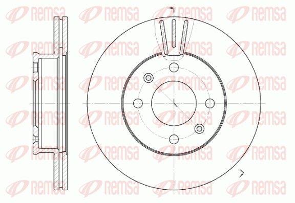 REMSA  6958.10 Brake Disc Brake Disc Thickness: 19mm, Num. of holes: 4, Ø: 240,9mm, Ø: 240,9mm