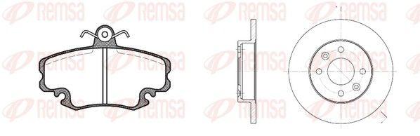 REMSA  8141.04 Bremsensatz, Scheibenbremse Bremsscheibendicke: 12mm