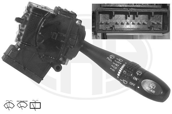 ERA  440518 Steering Column Switch Number of connectors: 10, with rear wipe-wash function, with wipe interval function, with wipe-wash function