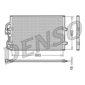 Kondensator, Klimaanlage Netzmaße: 693x460x16, Kältemittel: R 134a mit OEM-Nummer 96.459.747.80