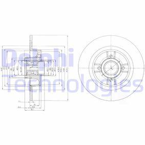DELPHI Disco de travão BG9029RSC com códigos OEM 7701206328