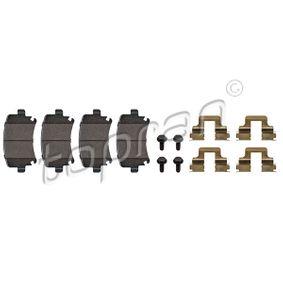 Bremsbelagsatz, Scheibenbremse Dicke/Stärke: 17,2mm mit OEM-Nummer 1K0 698 451 D