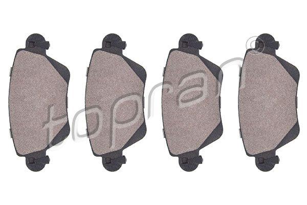 TOPRAN  301 959 Bremsbelagsatz, Scheibenbremse Dicke/Stärke: 17,2mm