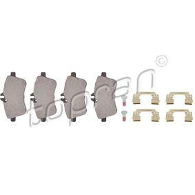 2012 Mercedes W169 A 200 CDI 2.0 (169.008, 169.308) Brake Pad Set, disc brake 401 437