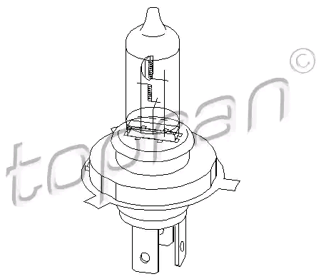 Bulb, headlight 104 499 TOPRAN H4 original quality