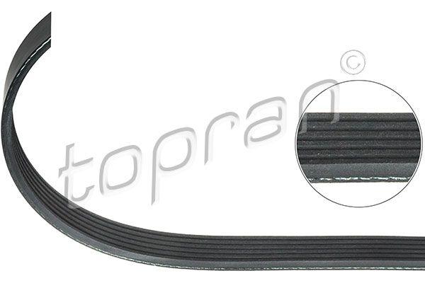 TOPRAN  722 384 Keilrippenriemen Länge: 1700mm, Rippenanzahl: 6, angetriebene Aggregate: angetr. Agg.: Generator, angetriebene Aggregate: angetr. Agg.: Klimakompressor, angetriebene Aggregate: angetr. Agg.: Servopumpe