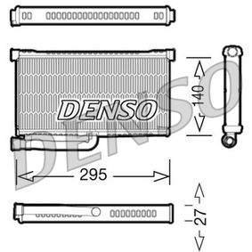 DENSO Wärmetauscher, Innenraumheizung DRR02004 für AUDI A6 (4B2, C5) 2.4 ab Baujahr 07.1998, 136 PS
