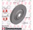 OEM Спирачен диск 100.3363.75 от ZIMMERMANN
