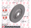 ZIMMERMANN FORMULA Z BRAKE DISC Brake discs and rotors AUDI Vented, Two-piece Brake Disc, Coated, Alloyed / High-carbon
