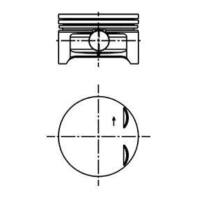 Kolben für OPEL CORSA C (F08, F68) 1.2 75 PS ab Baujahr 09.2000 KOLBENSCHMIDT Kolben (40383610) für