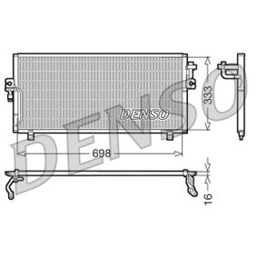 Kondensator, Klimaanlage Netzmaße: 698x333x16, Kältemittel: R 134a mit OEM-Nummer 921102F005