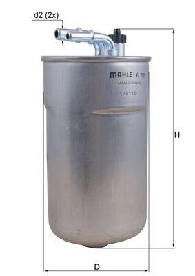 KNECHT  OX 5D Ölfilter Ø: 107,0mm, Innendurchmesser: 37,5mm, Innendurchmesser 2: 36,0mm, Höhe: 229,8mm, Höhe 1: 227,0mm