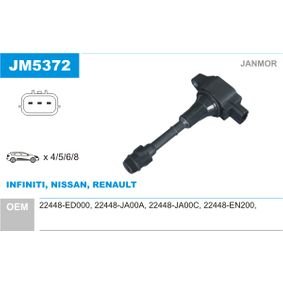 Ignition Coil with OEM Number 22448 JA00A