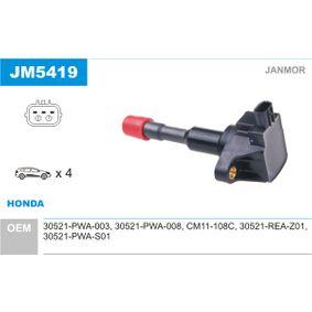 Ignition Coil JM5419 CIVIC 8 Hatchback (FN, FK) 1.4 (FK1) MY 2012