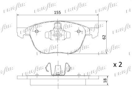 Bremsbelagsatz FRIGAIR PD05.501 Bewertung