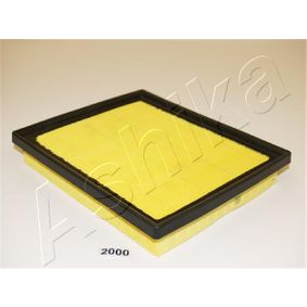 ASHIKA  20-02-2000 Luftfilter Länge: 220mm, Breite: 187mm, Höhe: 36mm
