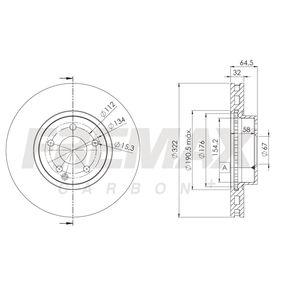 Brake Disc BD-5558 E-Class Saloon (W212) E 350 3.5 4-matic (212.088) MY 2013