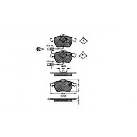 SPIDAN Bremsbelagsatz, Scheibenbremse 32370 für AUDI A4 Cabriolet (8H7, B6, 8HE, B7) 3.2 FSI ab Baujahr 01.2006, 255 PS
