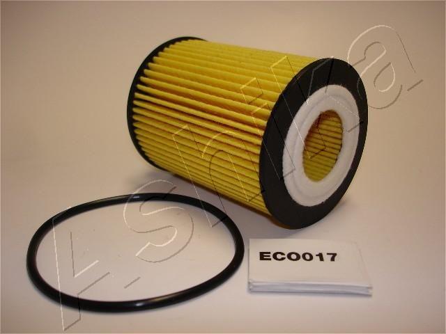 ASHIKA  10-ECO017 Ölfilter Ø: 62mm, Innendurchmesser: 27mm, Innendurchmesser 2: 9mm, Länge: 88mm, Länge: 88mm