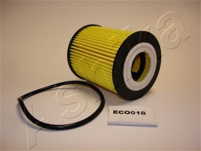 ASHIKA  10-ECO018 Ölfilter Ø: 62,2mm, Innendurchmesser: 28mm, Innendurchmesser 2: 0mm