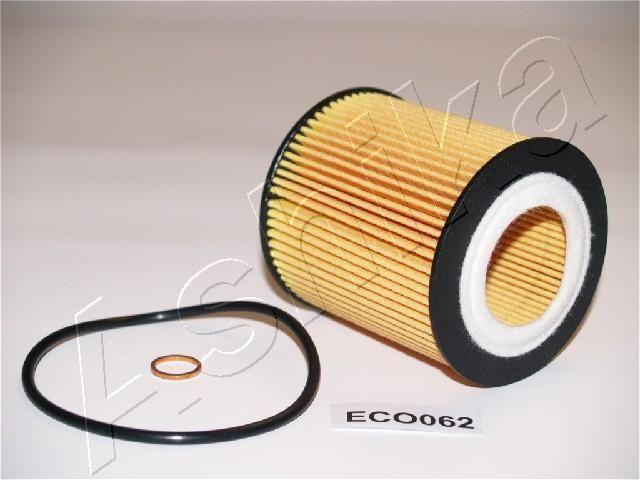 ASHIKA  10-ECO062 Ölfilter Ø: 73mm, Innendurchmesser: 36mm, Länge: 80mm, Länge: 80mm