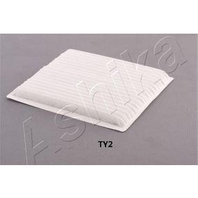 ASHIKA  21-TY-TY2 Filter, interior air Length: 213mm, Width: 197mm, Height: 18mm