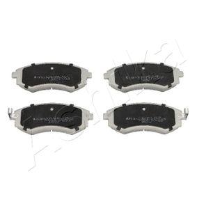 Bremsbelagsatz, Scheibenbremse Höhe: 54mm, Dicke/Stärke: 17mm mit OEM-Nummer 58101-38A00
