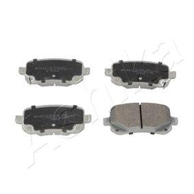 ASHIKA  51-09-905 Bremsbelagsatz, Scheibenbremse Höhe: 53mm, Dicke/Stärke: 17mm