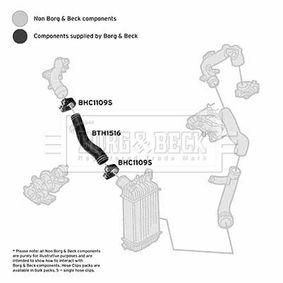 Ladeluftschlauch Länge: 372mm mit OEM-Nummer 144631KC0A