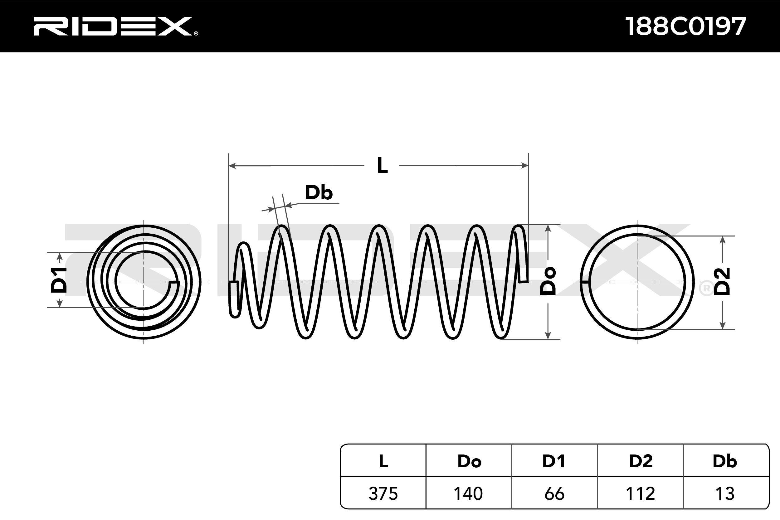 RIDEX Art. Nr 188C0197 günstig