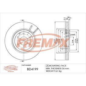 Bremsscheibe Bremsscheibendicke: 28mm, Ø: 320mm, Ø: 320mm mit OEM-Nummer 40206 EB320