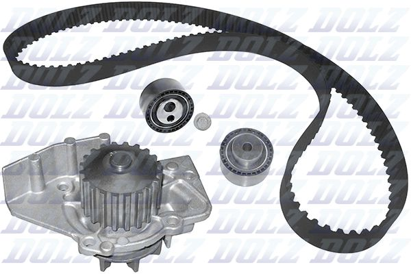 DOLZ  KD008 Water pump and timing belt kit Width: 25,4mm