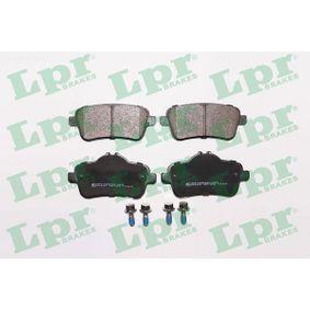 LPR  05P1805 Bremsbelagsatz, Scheibenbremse Breite: 116,2mm, Höhe 1: 49,7mm, Höhe 2: 59,5mm, Dicke/Stärke: 18,7mm