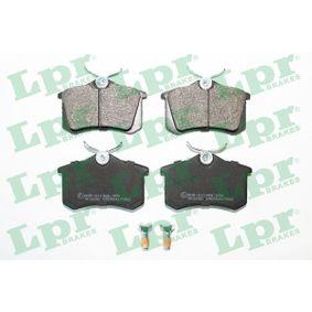 LPR  05P1788 Kit de plaquettes de frein, frein à disque Largeur: 87mm, Hauteur: 53mm, Épaisseur: 16,2mm