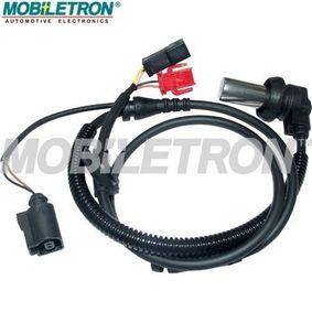 ABS Sensor VW PASSAT Variant (3B6) 1.9 TDI 130 PS ab 11.2000 MOBILETRON Sensor, Raddrehzahl (AB-EU110) für