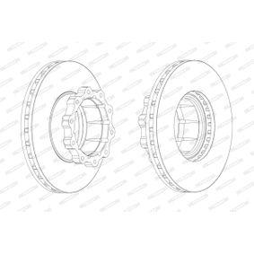 Bremsscheibe Bremsscheibendicke: 45mm, Lochanzahl: 10, Ø: 438mm mit OEM-Nummer 3564211012