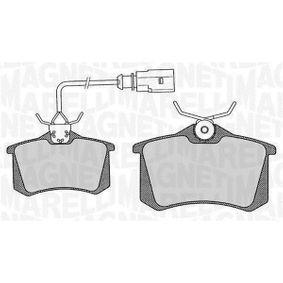 Bremsbelagsatz, Scheibenbremse Höhe 1: 53mm, Dicke/Stärke 1: 17mm mit OEM-Nummer 8D0 698 451 B