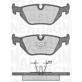Bremsbelagsatz, Scheibenbremse Höhe 1: 45mm, Dicke/Stärke 1: 17mm mit OEM-Nummer 34212157621