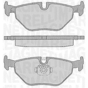 Bremsbelagsatz, Scheibenbremse Höhe 1: 43,7mm, Dicke/Stärke 1: 17,3mm mit OEM-Nummer 34211164501