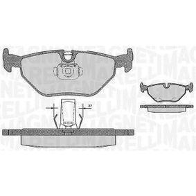 Bremsbelagsatz, Scheibenbremse Höhe 1: 45mm, Dicke/Stärke 1: 17,3mm mit OEM-Nummer 34212157591