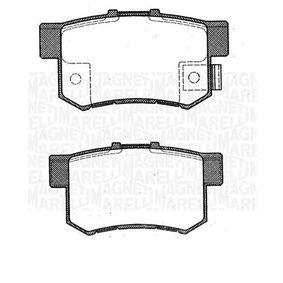 2002 Honda Civic Mk7 2.0 Type-R Brake Pad Set, disc brake 363916060461