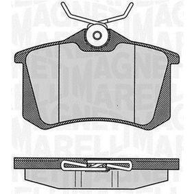 2012 Nissan Note E11 1.6 Brake Pad Set, disc brake 363916060348