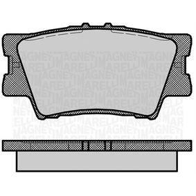 Bremsbelagsatz, Scheibenbremse Höhe 1: 49,2mm, Dicke/Stärke 1: 15,4mm mit OEM-Nummer 04466-YZZE8