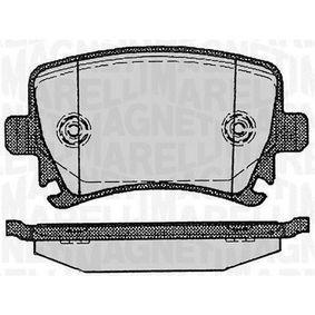 Bremsbelagsatz, Scheibenbremse Höhe 1: 56mm, Dicke/Stärke 1: 16,7mm mit OEM-Nummer 3C0 698 451C