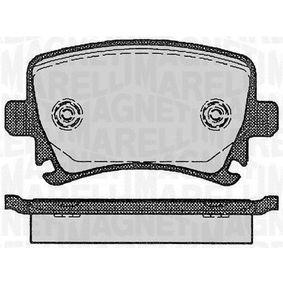 Bremsbelagsatz, Scheibenbremse Höhe 1: 56mm, Dicke/Stärke 1: 17mm mit OEM-Nummer 1K0 698 451H