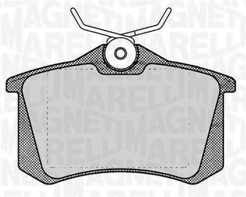 MAGNETI MARELLI  363916060131 Bremsbelagsatz, Scheibenbremse Höhe 1: 53mm, Dicke/Stärke 1: 17mm
